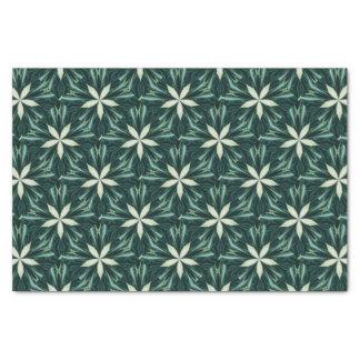 Papel De Seda Folhas do branco em um caleidoscópio verde da