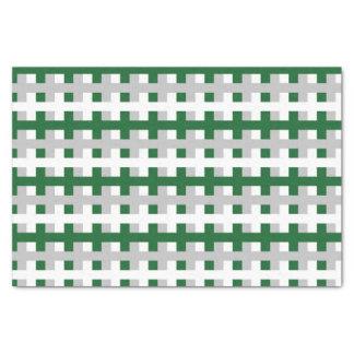 Papel De Seda Forest Green abstrato, prata e branco