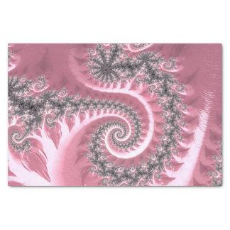 Papel De Seda Fractals elegantes extravagantes com padrões legal