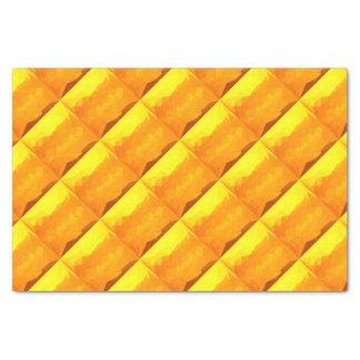 Papel De Seda Fundo do polígono do abstrato do amarelo do Cyber