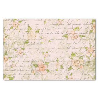 Papel De Seda Gasto floral romance do vintage