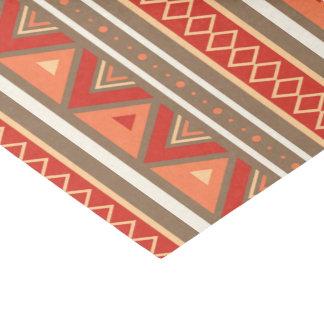Papel De Seda Geométrico, Taupe & laranja do sudoeste modernos