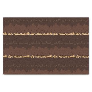 Papel De Seda Glacé do bolo de aniversário do chocolate