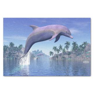 Papel De Seda Golfinho nos trópicos - 3D rendem