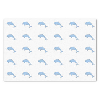 Papel De Seda Golfinhos azuis da aguarela