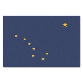 Papel De Seda Gráfico dinâmico da bandeira do estado de Alaska