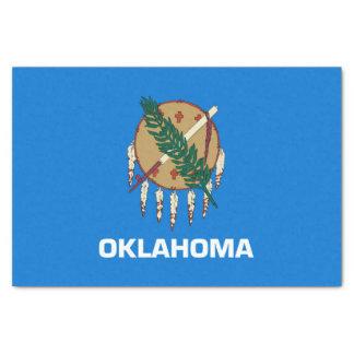 Papel De Seda Gráfico dinâmico da bandeira do estado de Oklahoma