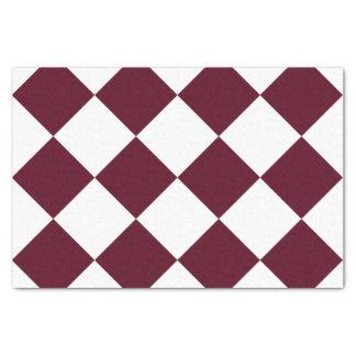 Papel De Seda Grande Checkered de Diag - escarlate branco e