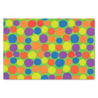 Papel De Seda Grandes pontos coloridos