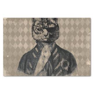 Papel De Seda Grunge do gato do Harlequin