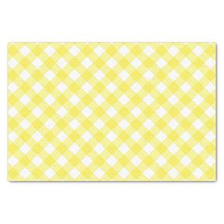 Papel De Seda Guingão amarelo ensolarado