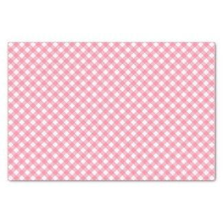 Papel De Seda Guingão Pastel chique do rosa de bebê do país