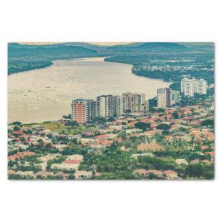 Papel De Seda Ideia aérea do subúrbio de Guayaquil do plano