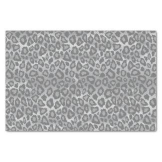 Papel De Seda Impressão animal do leopardo cinzento