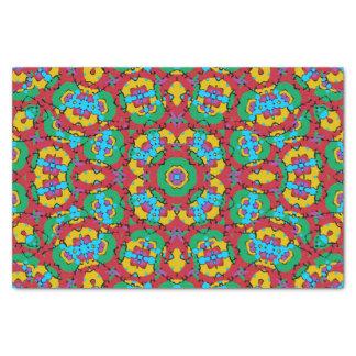 Papel De Seda Impressão colorido geométrico