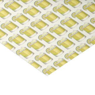 Papel De Seda Impressão do limão da bebida misturada do cocktail