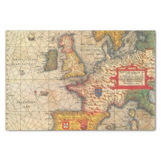 Papel De Seda Impressão do mapa do vintage
