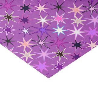 Papel De Seda Impressão moderno de Starburst, roxo violeta e