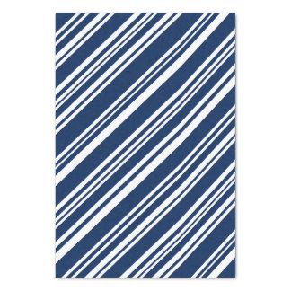 Papel De Seda Índigo diagonal e listras brancas