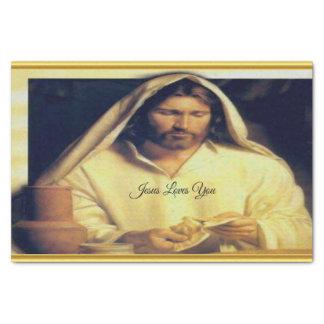 Papel De Seda Jesus que quebra a textura do ouro de matthew