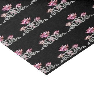Papel De Seda Jóia floral cor-de-rosa & de prata decorativa