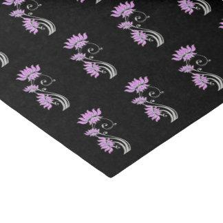 Papel De Seda Jóia floral roxa & de prata à moda