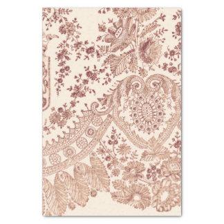 Papel De Seda Laço floral cor-de-rosa com rosas