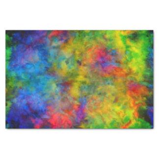Papel De Seda [Laço-Tintura atômica] cores psicadélicos do