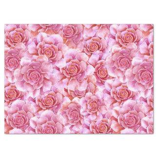 Papel De Seda Lavanda cor-de-rosa dos Succulents floral