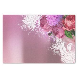 Papel De Seda Lilac cinzento da peônia verde do rosa da flor