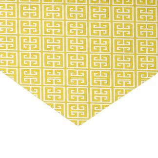 Papel De Seda Limão - teste padrão chave grego amarelo