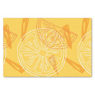 Papel De Seda Limões amarelos brilhantes teste padrão tirado do