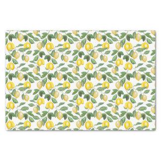 Papel De Seda Limões, plantada, floral. Illustration.