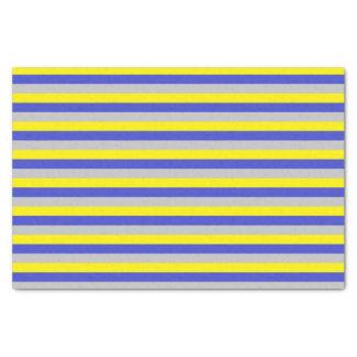 Papel De Seda Listras amarelas, azuis e de prata