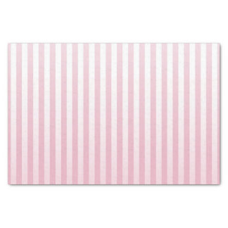 Papel De Seda Listras brandamente cor-de-rosa e brancas