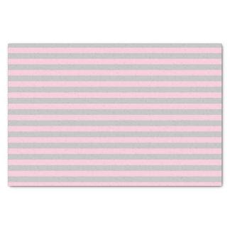 Papel De Seda Listras brandamente cor-de-rosa e de prata
