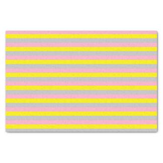 Papel De Seda Listras cor-de-rosa, amarelas, e de prata