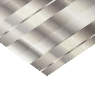 Papel De Seda Listras diagonais metálicas do falso de prata