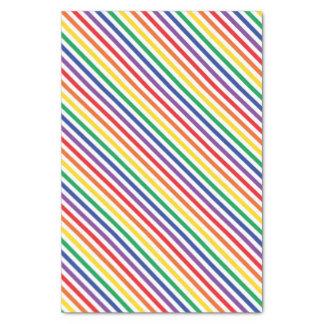 Papel De Seda Listras do arco-íris