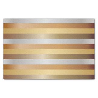 Papel De Seda Listras do cobre, do ouro, da prata e do bronze