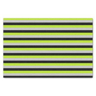 Papel De Seda Listras do verde limão, as de prata e as pretas