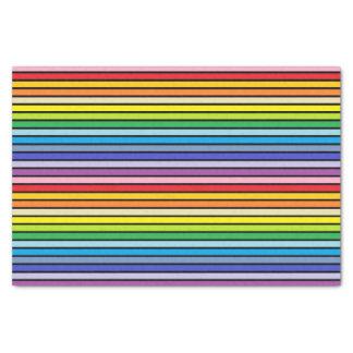 Papel De Seda Listras mais largas esboçadas preto do arco-íris