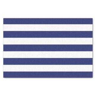 Papel De Seda Listras náuticas dos azuis marinhos