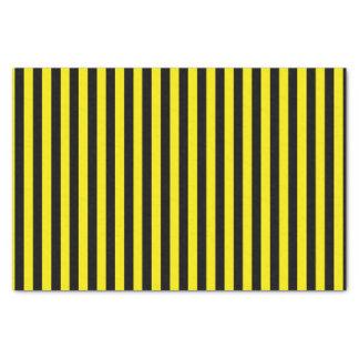 Papel De Seda Listras pretas e amarelas verticais