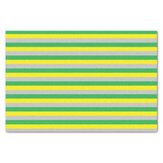 Papel De Seda Listras verdes, amarelas, e de prata