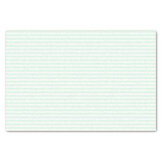 Papel De Seda Listras verdes e brancas da hortelã fina - lenço