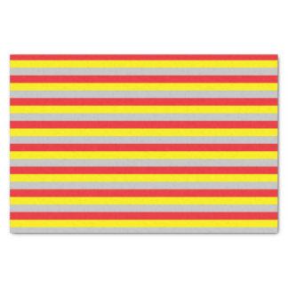 Papel De Seda Listras vermelhas, amarelas, e de prata