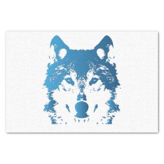 Papel De Seda Lobo do azul de gelo da ilustração