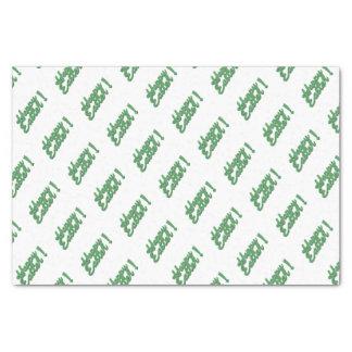 Papel De Seda Logotipo verde do felz pascoa