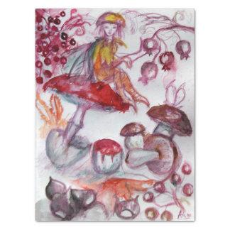 Papel De Seda MÁGICA FOLLET da fantasia floral branca vermelha